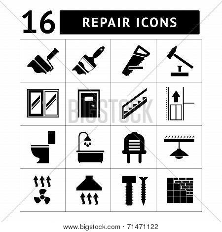 Set Icons Repair of Building Items