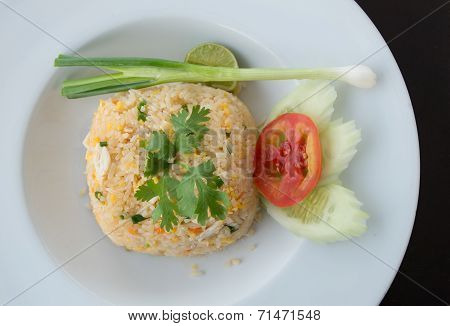 Fried Rice Mixed With Crab Meat And Eggs