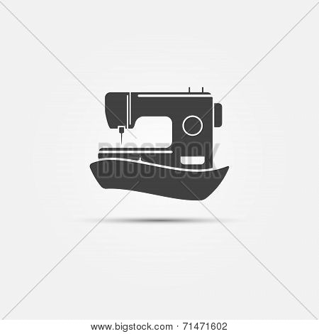 Sewing machine black symbol