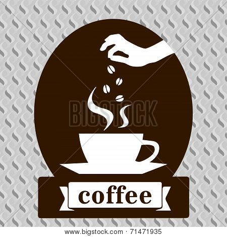 Coffee art design template card