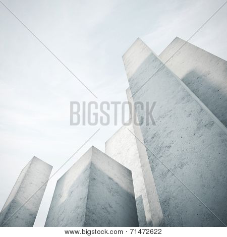 Abstract Concrete Model Of A City