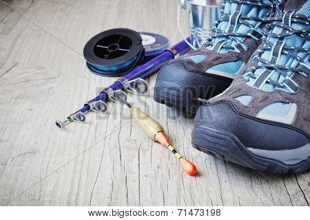Boots And Fishing Gear