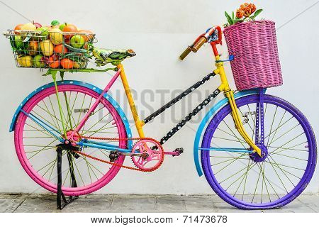 The Colorful Old Bicycle
