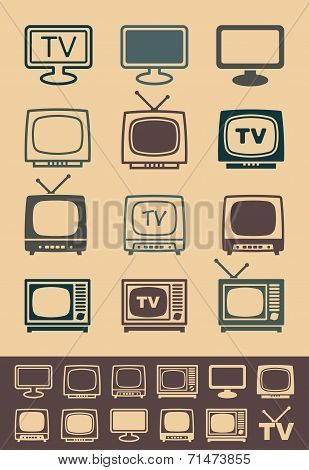 Retro tv receiver vector - Illustration