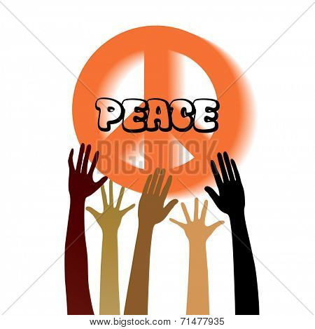 Peace sign with hands