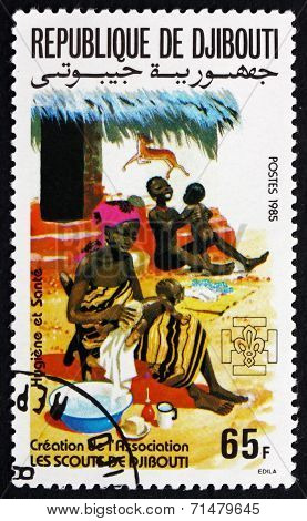 Postage Stamp Djibouti 1985 Hygiene, Family Health Care