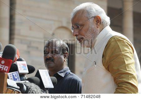 Narendra Modi at Rastrapati Bhawan