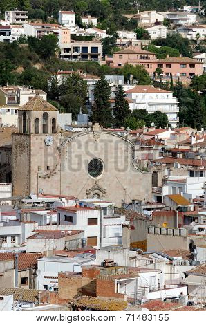 The Parish Church Of Sant Vicent Surrounded By Roofs - Tossa De Mar, Catalonia