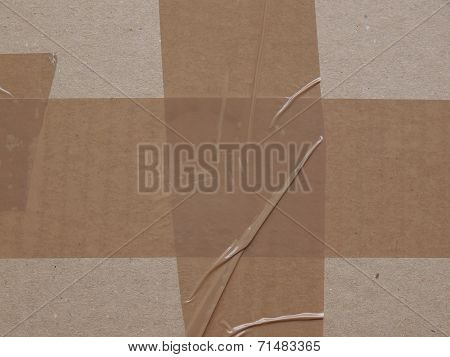 Cardboard Parcel With Adhesive Tape