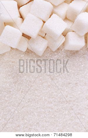 White sugar background
