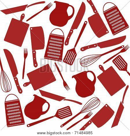 Pattern Of Kitchen Tools