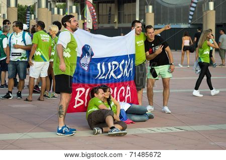 Slovenia Fans Before Match