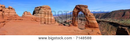 Panorama Of Delicate Arch
