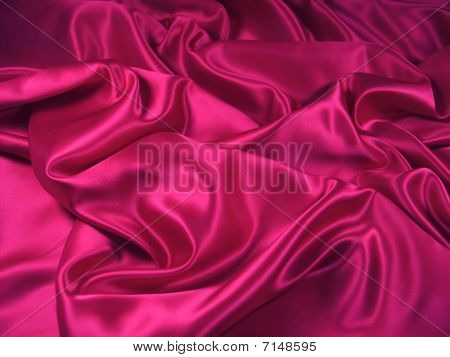 Pink Satin Fabric [landscape]