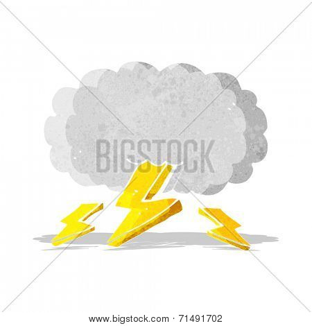 cartoon thundercloud