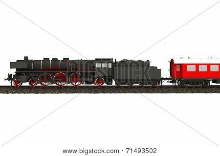Steam Train Illustration