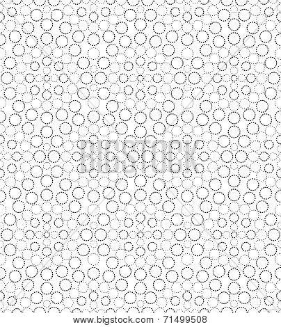 Black And White Geometric Circle Seamless Pattern