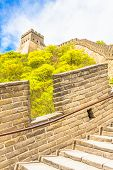 image of qin dynasty  - View of the Great Wall of China - JPG