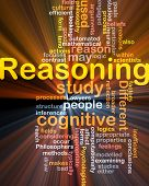 stock photo of inference  - Background concept wordcloud illustration of cognitive reasoning logic