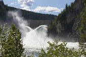 picture of northeast  - Water crashes over the spillway of Boundary Dam in Northeast Washington - JPG