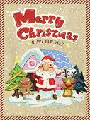 picture of ginger man  - Merry Christmas greeting graphic with Santa moose and ginger man - JPG