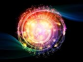 picture of quantum  - Abstract concept of quantum waves illustrated with fractal elements - JPG