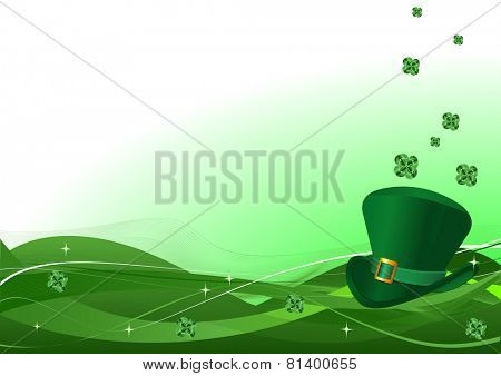 St. Patrick Day background with copy space