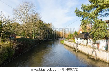 River Avon Christchurch Dorset England UK