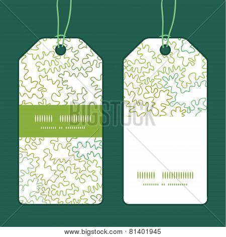 Vector curly shapes vertical stripe frame pattern tags set