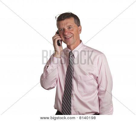 Senior With Phone