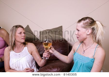 Teenage Drinking Caught By Mother