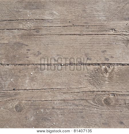 Old threadbare wooden surface