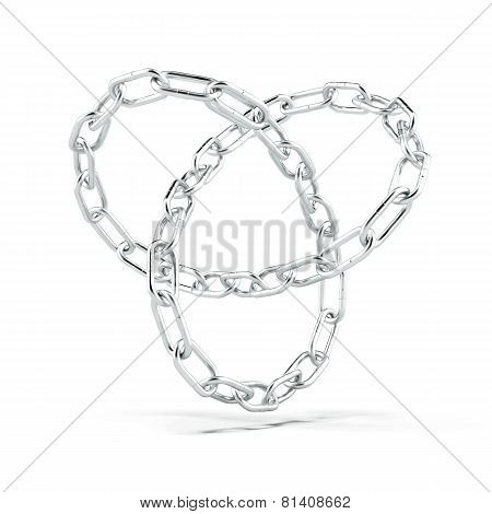 Torus knot made of chain