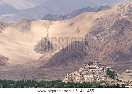 Thikse Monastery In Himalayas