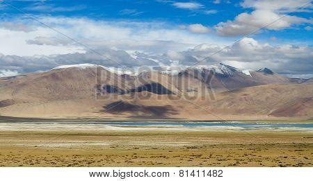 Tso Kar Mountain Salty Lake View