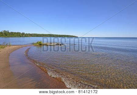 Quiet Bay On The The Great Lakes