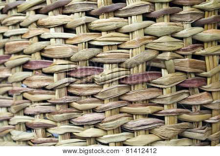 Texture of woven straw.