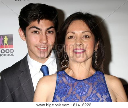 LOS ANGELES - JAN 17:  Jeromy Ramos, Betty Ann Rosales at the Hollywood Red Carpet School at Secret Rose Theater on January 17, 2015 in Studio City, CA