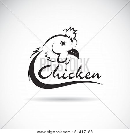 Vector Design Chicken Is Text On A White Background.