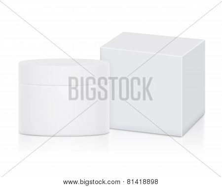 Container Cream Set No Label