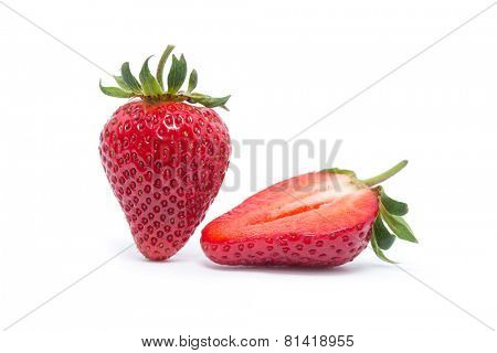 strawberry isolated over white