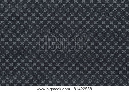 Texture Of Silvery Fabric With An Abstract Pattern