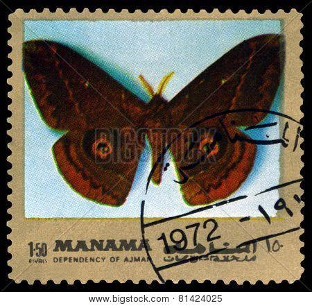 Vintage  Postage Stamp. Butterfly Salassa Lola.