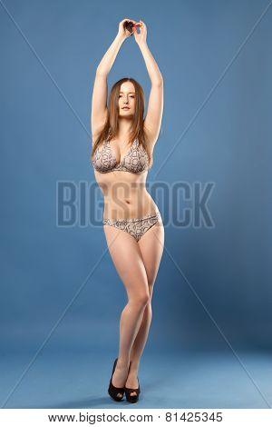 Girl In A Bathing Suit.
