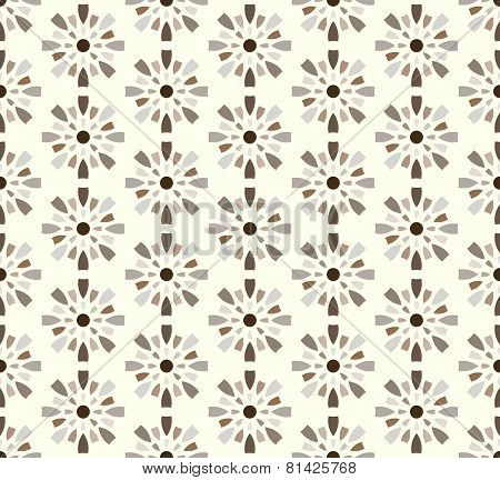 Brown Fireworks And Circle Pattern On Pastel Background