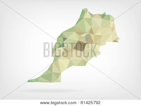 Low Poly map of Morocco