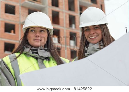 Civil Engineers At Consruction Site