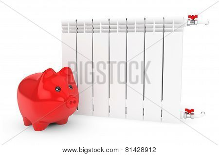 Modern Heating Radiator With Piggy Bank