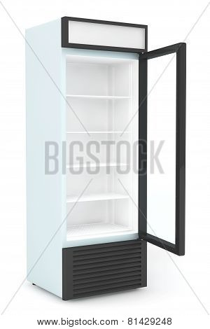 Fridge Drink With Opened Door