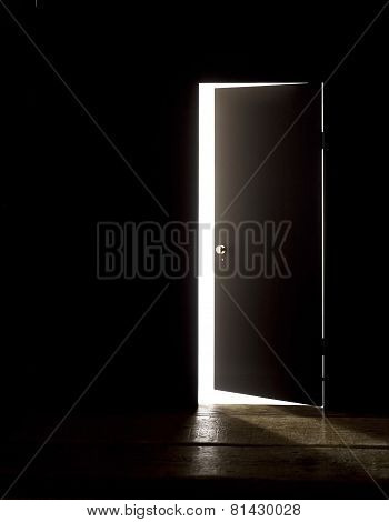 DARKENED ROOM DOOR OPEN WIDER